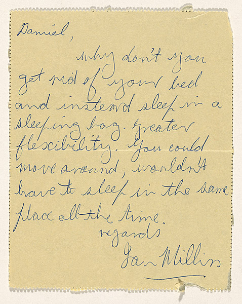 In 1971 I was also writing to friends suggesting changes in their living arrangements.